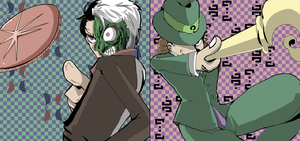 Two Face and The Riddler by s-azma