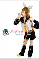 Vocaloid Rin Cosplay Costume by miccostumes