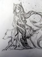 Girl of the wolves. by Da-wizard
