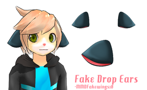 MMD- Fake Droppy Animal Ears -DL by MMDFakewings18