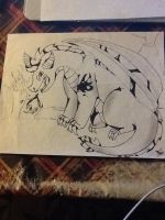Drawing on paper 5 by Obsidianthewolf