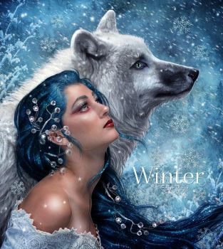 Winter by EstherPuche-Art