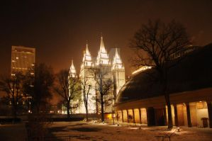Salt Lake Temple n Tabernacle by houstonryan