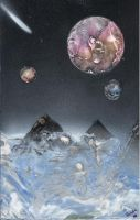 Icy Space Mountains by BeccaPanda