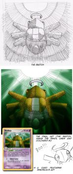 :Sketches: Shedinja by endless-whispers