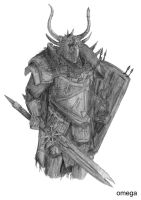 Warhammer Chaos Knight by Omega-33