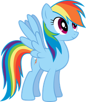 Rainbowdash vector by sunran80