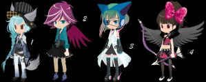 Magical Girls Set 12 CLOSED by AdoptableSoulxHeart