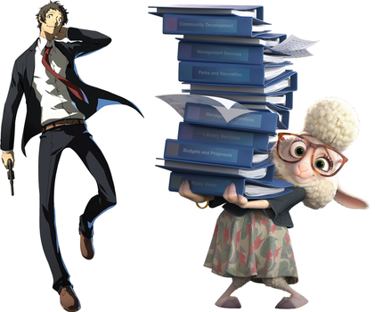 Adachi and Bellwether by Fail-Seeker