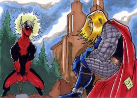 Deadpool Thor PSC by Foreman by chris-foreman