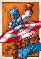 Cap Sketch Card by jamesq