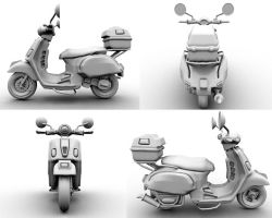 Vespa -  4 Views by elfboy65