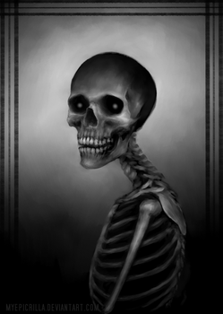 Skeleton portrait by MyEpicRilla