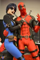 Domino/Deadpool Cosplay - Montreal Comiccon 2014 by ConMenWebSeries