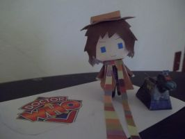 K-9 AND FOURTH DOCTOR PAPERCRAFTS by RizuOfManyWolves