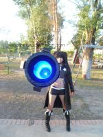 Black rock shooter cosplay with rock cannon by xeccentricity