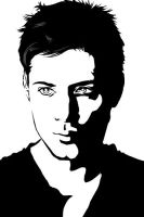 Jensen Ackles BW by Jucchan
