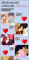 Meme: My top 10 couples 2.0 by Minni-Alice