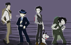 Frankenweenie Mobster AU pt.1 by HoneyCane