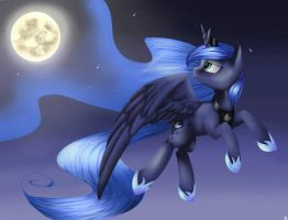 Princess Luna (request). by NeutisShow