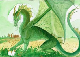 Green Dragon by LarimarDragon