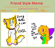 Friend style meme by Cibibot