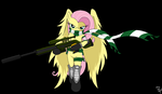 Fluttershy sniper Fluttersnipe  approaching target by AmostheArtman