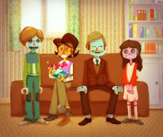 Vintage robot family by Andry-Shango