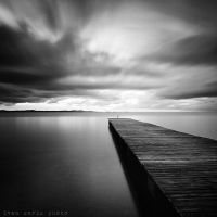Clouds over the sea -bw by ivancoric