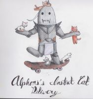 Alphonse's Instant Cat Delivery by artsyfartsy11