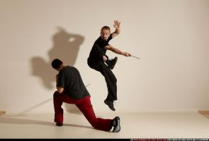 Very Dynamic Eskrima Fight by comicReference