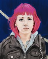 Pink-haired Self Portrait by soulexposed