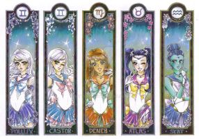 Zodiac Senshi Bookmarks by Toto-the-cat