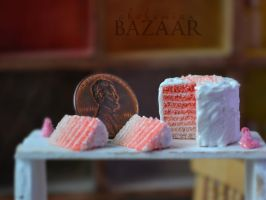 Shades of Pink Cake 1:12 Scale by abohemianbazaar