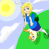 Fionna and Cake by PochiMochi