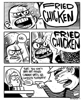 FRIED CHICKEN by sayunclecomics