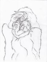 Safe and warm ~pencil work~ by SunFireDemon