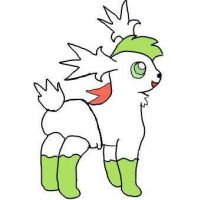shaymin baby sky form by plushielover