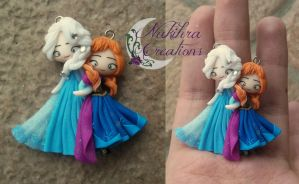 Anna and Elsa Polymer Clay by Nakihra