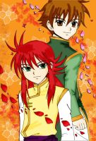 Kurama and Shaoran by Na-Nami