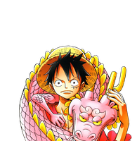 Monkey D. Luffy Render by annaeditions24
