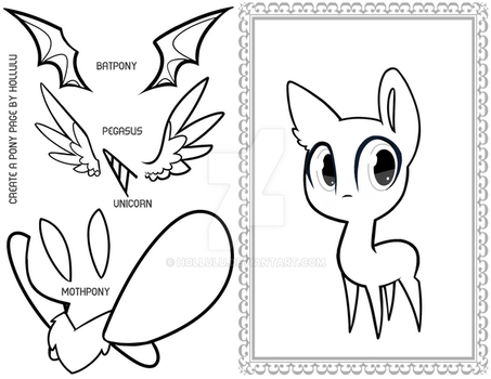 Create a Pony Coloring Page! by Hollulu