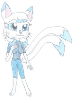Myunna the Two Tailed Cat by KendraTheShinyEevee