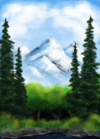 In Memory of Bob Ross by MarvelPoison