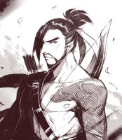 (doodle) hanzo by Kair030