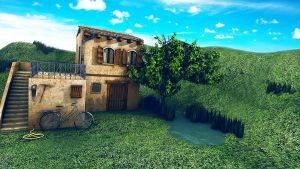Toscana 3D Landscape 3DS Max by RomanianGuy