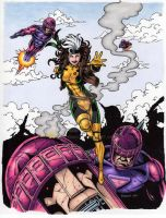 Rogue VS Sentinels Color Art by tonyperna