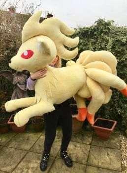 HUGE 65 Inch Ninetales Plush FOR SALE by LovingMissMuse