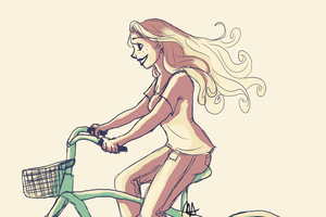 Riding a Bike by Auggusst