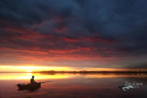 Sunset on Lough Ennell by giampaolo-de-luca